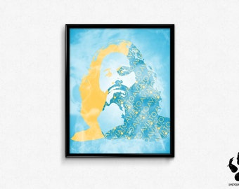Erlich Bachman Print, Comic Con 2016 Art, Wall Art, Illustration, Silicon Valley, Bachmanity, Gift
