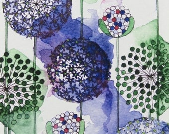 Alliums - Signed, limited edition print