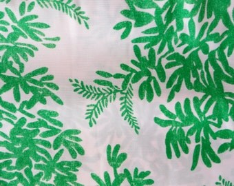 vintage fabric green pattern 1960s