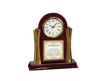 Item Apgc-pc Anniversary Gift For Daughter Or Son Poetry Cherry Desk Clock