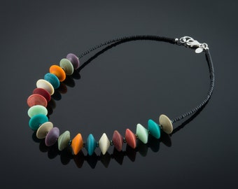 Brushed Naturals Glass Bead Necklace