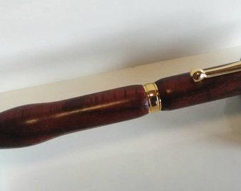 Padouk wood ballpoint pen made by hand