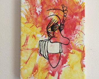 Slapstick Vonnegut Acrylic Painting