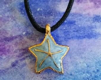 Hawaiian Series•••Starfish of The Sea in Gold & Blue