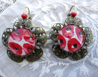 Sleepers form Flower Earrings