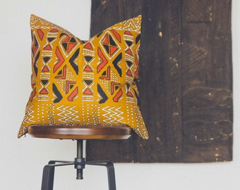 African Mudcloth pillow cover 'Obom'