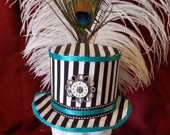 Striped Mini Top Hat