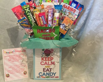 Keep clam and eat candy medium bouquet