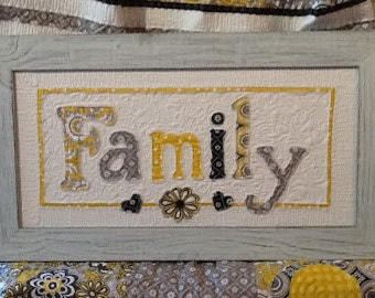 Family Seasons of Change Interchangeable Wall Hanging with Custom Frame or Fabric Bound Seasonal Decor / Fall Spring Summer Christmas Winter