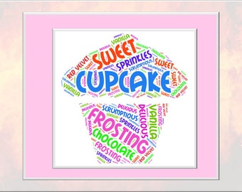 Cupcake Word Art