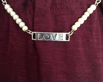 Love and Pearls Necklace
