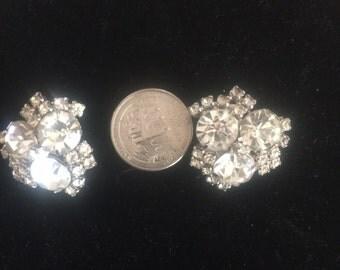 Clear rhinestone cluster earrings