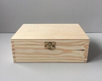 Wooden box, Wooden box with lid, Wood, Jewellery box, Gift box, Jewelry box, Personalized, Cottage decor, Unfinished wood box