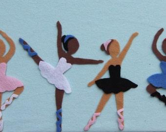 Felt Board Ballerina Story, Ballerina Felt Story, Ballerina Felt Set, Felt Ballerinas, Felt Toys, Ballet Felt Set