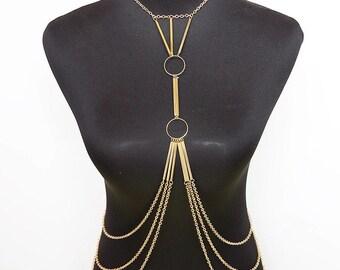 Fringe tassel layer body chain
