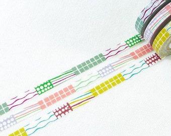 Masking Tape 3 pattern Japan Mihoko Seki washi masking tape sample - 50 cm per pattern - NOT whole roll