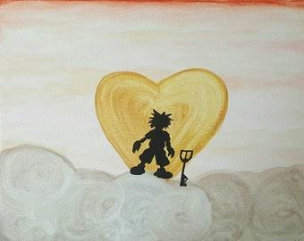 Kingdom Hearts Sora Canvas Painting