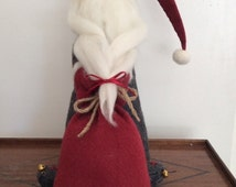 Large Father Christmas Doll, Biscuit face and Needle Felted completion