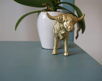 Gold Ox Head and Rear Animal Magnets