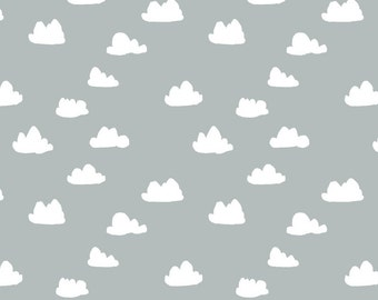 Clouds in Gray, 2 Yards in Linen Cotton Canvas