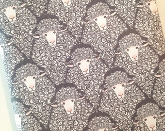 Eyes on Ewe Sheep Quilting Cotton Fabric. Fabric by the Yard. Gender Neutral Nursery Baby Sheeps Michael Miller Animal Zoo Gray White Kids