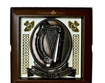 "Bronze Eire Harp Plaque 6"" [TF19]"