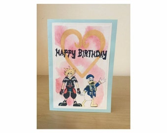 Homemade Kingdom Hearts Birthday Card