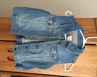 Jean Vest Gently Used