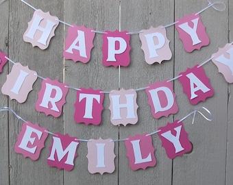 Happy Birthday Banner, Customized