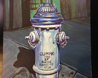 Blue Beret Hydrant