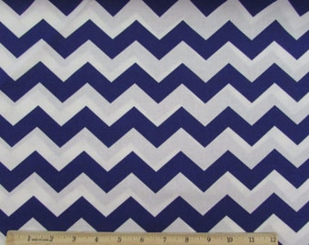 "Chevron, 1"" Deep Purple Fabric"