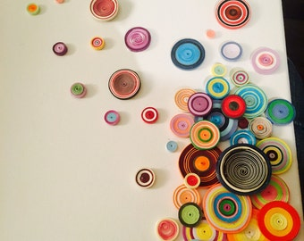 Drifting Away - Paper Quilling Art/ Made to Order