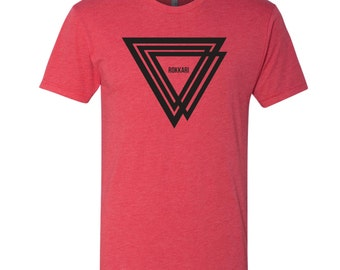 Rokkari Triangles Men's Crew Neck T-Shirt