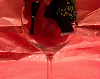 Hand painted wine glasses and much more