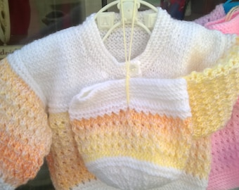 New Baby set Hand Knitted