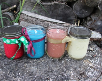 16oz Mason Jar Soy Candles, Scented