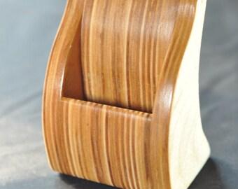 Wooden reclaimed Business card holder