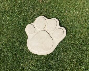 Paw Print Stepping Stone