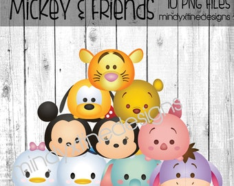 Mickey and Friends Tsum Tsum Clipart