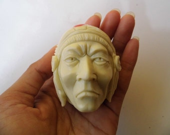 Indian Head from Cue Billiard Snoker Pool Ball Hand Carved_v807