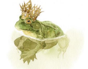 Frog Princess giclée print