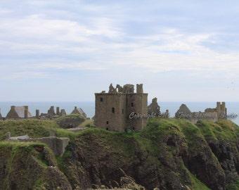 Dunnottar Castle - Scotland, Castle, Scotland, Ruins, Rocky, Sea, History, Ocean, Dunnottar, Dunnottar Castle, Fortress, Cliffs, Blue, Green