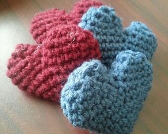 Crochet Heart Catnip Toys