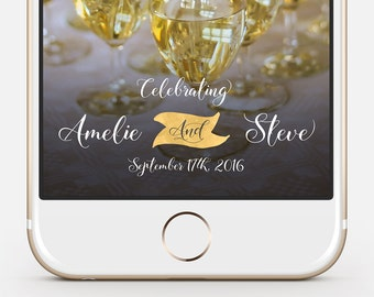 Wedding Snapchat Geofilter - fully customizable, instant delivery