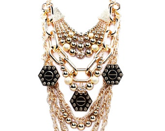 MITHRA: Unique Statement Necklace, Perfect Stylish Jewelry Gift For The Fashionable.
