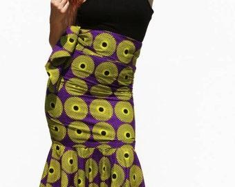 Long skirt high waist, elegant evening gowns, cotton, with waistband, size 40 42