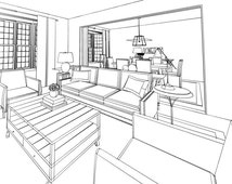 Traditional Interior Design Service Package Online | Living Room