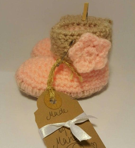 Homemade Baby Gifts Uk : Handmade baby booties newborn crochet