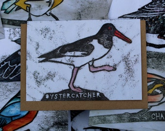 Oystercatcher Card | Greetings Card | British Birds | Printed in the UK on Recycled Card