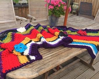 Bed throw festival blanket